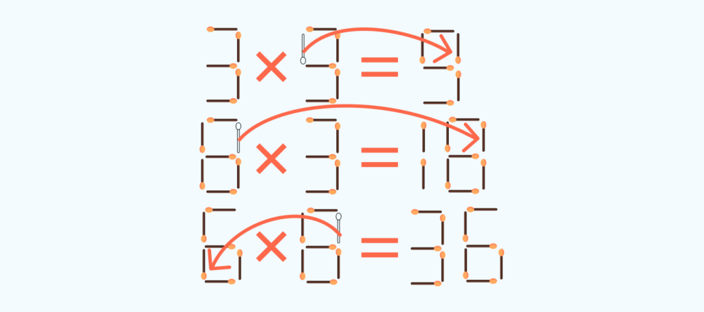 answer to the matchstick puzzle # 1