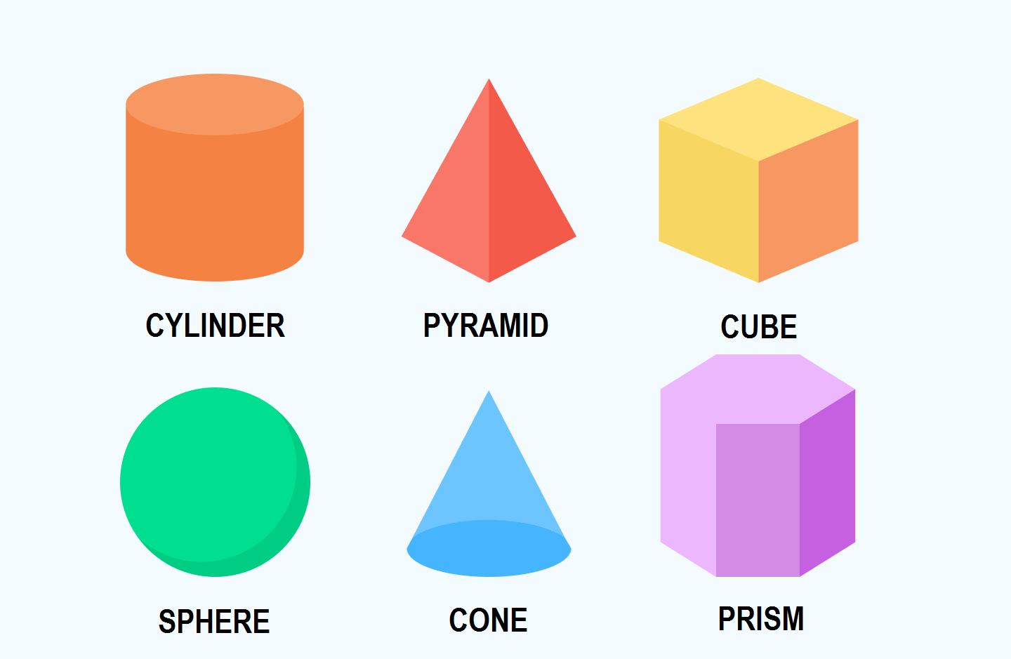 3d shapes for kid