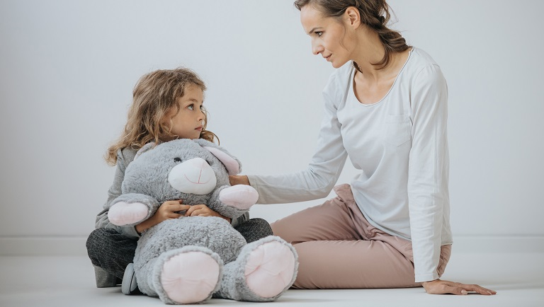 a child coping with stress