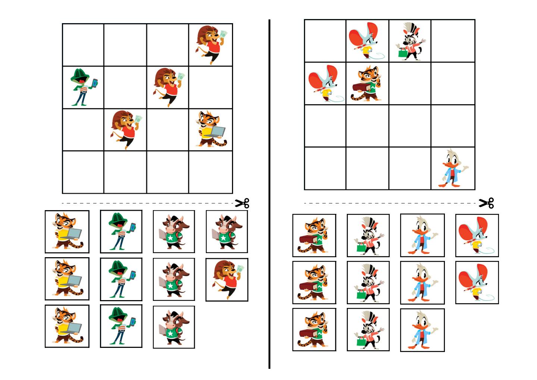 sudoku for kids 4x4 printable