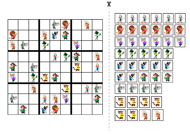 sudoku for kids 9x9 printable