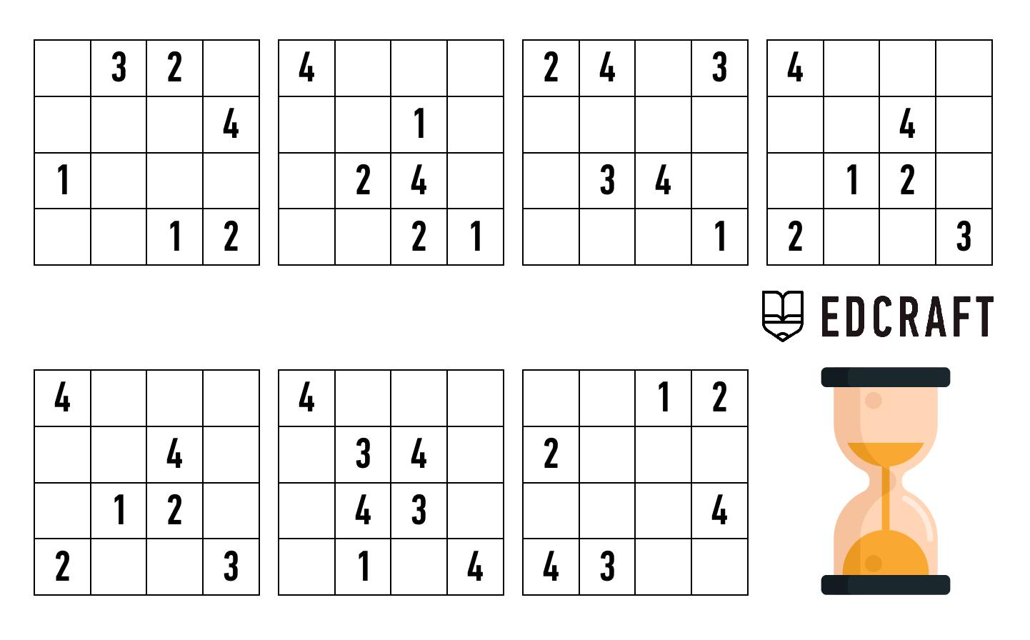 sudoku for kids printables
