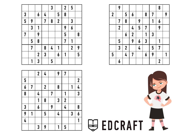 sudoku printables for kids