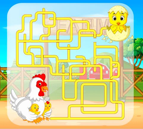 easy maze for kids